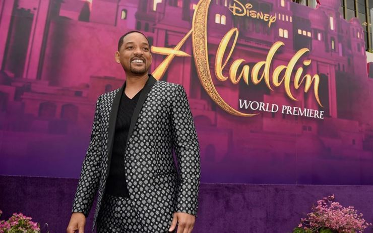 Actor Will Smith arrives for the premiere of 'Aladdin' at the El Capitan Theatre in Los Angeles on May 21. AP