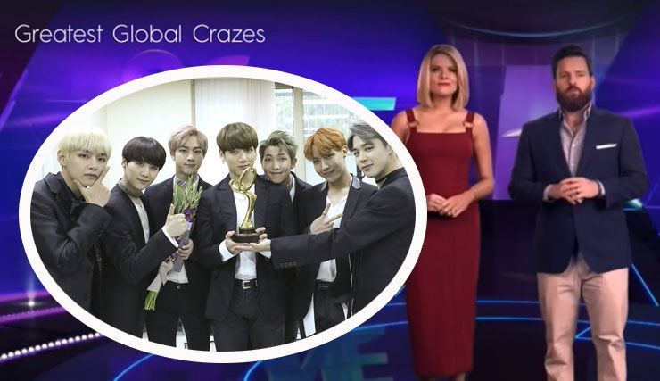 An Australian television program has sparked controversy after its hosts and panelists made offensive remarks about K-pop boy band BTS. Courtesy of Big Hit Entertainment, capture from YouTube account of 'Eloise Lastname'