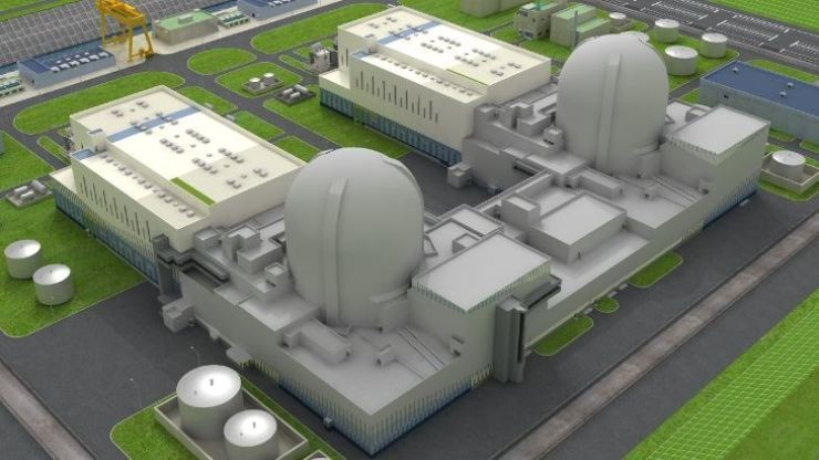 An artist's impression of Korea Hydro & Nuclear Power's (KHNP) APR 1400 nuclear reactor. Courtesy of KHNP