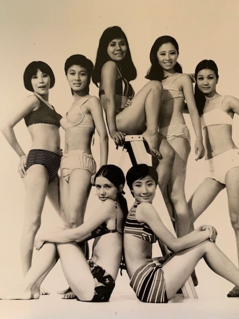 Model Melanie Glock poses in an ad for Daehan Synthetic in the early 1970s. / Courtesy of Yongsan Legacy