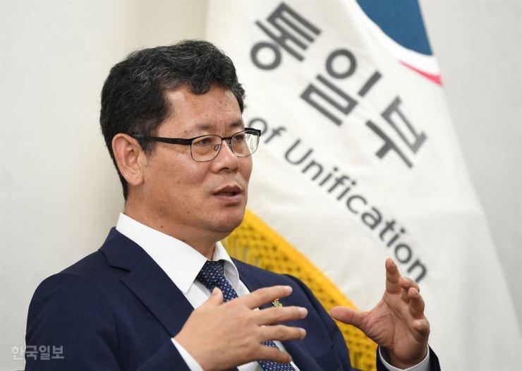Unification Minister Kim Yeon-chul. Korea Times file