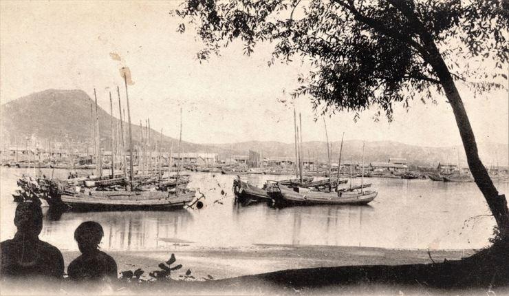 Wonsan port circa 1900s courtesy of Diane Nars. / Robert Neff collection