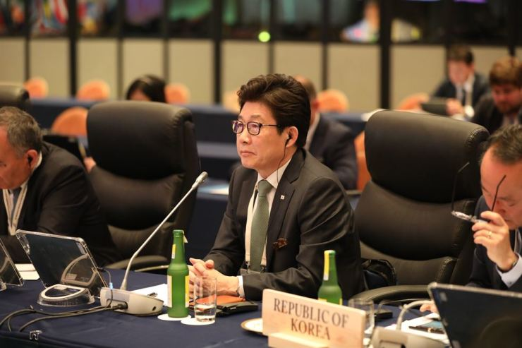 Cho Myung-rae at the G20 meeting in Karuizawa, Nagano Prefecture, Japan, on June 16. Courtesy of the Ministry of Environment