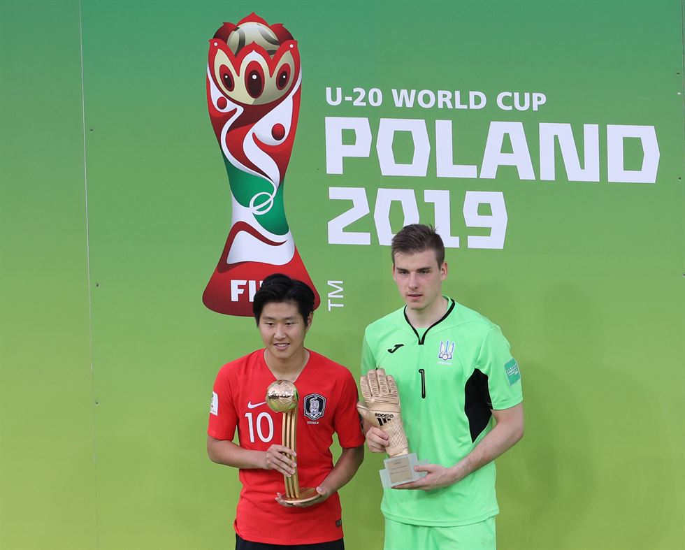 South Korea finished in second place at the FIFA U-20 World Cup following a 3-1 loss to Ukraine in the final at Lodz Stadium in Lodz on Saturday. Yonhap