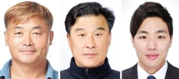 From left are Hwang Heung-seop, Kim Boo-geun and Choi Chang-ho