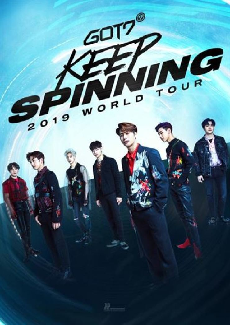 The poster for GOT7's 2019 world tour / Courtesy of JYP Entertainment