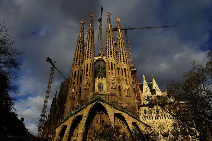 In this file photo taken on Jan. 13, 2010, shows Antoni Gaudi's Sagrada Familia church, an unfinished Barcelona landmark in Barcelona, Spain. An official building permit has been issued for the church designed by architect Antoni Gaudi 137 years after construction started on La Sagrada Familia Basilica. AP