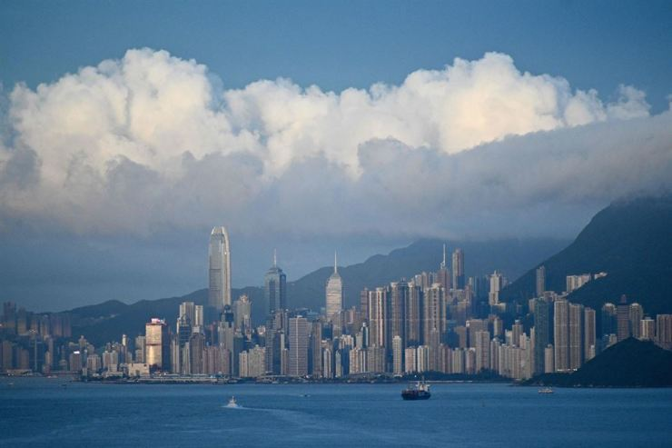 This picture taken on June 13 shows a general view of the Hong Kong skyline. AFP-Yonhap
