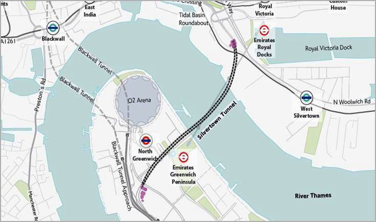 An artist's impression of SK E&C's Silvertown Tunnel project. / Courtesy of SK E&C