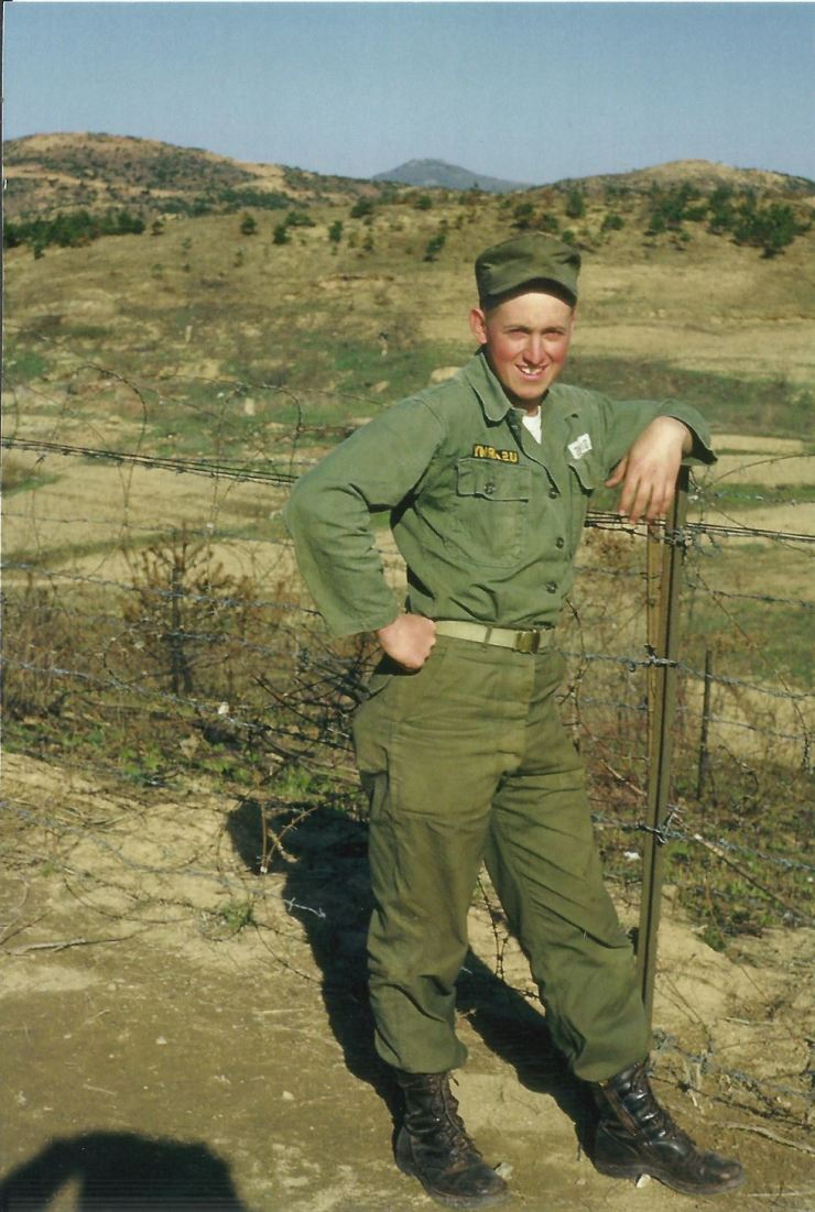Private Stanley Dale Simmons in Korea in 1955-56. Courtesy of Stanley Simmons