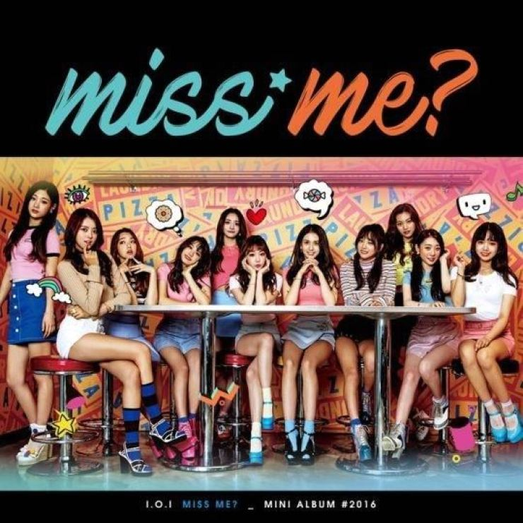 The cover of I.O.I's mini-album 'miss me?' from October 2016. Courtesy of YMC Entertainment