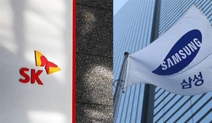 SK and Samsung / Yonhap