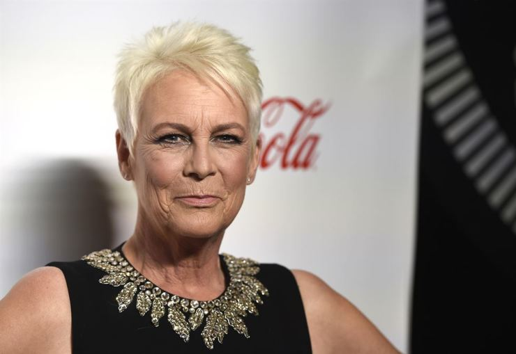 In this April 4 file photo, Jamie Lee Curtis, recipient of the CinemaCon vanguard award, poses at the Big Screen Achievement Awards at Caesars Palace in Las Vegas. Universal said it will release two new 'Halloween' films, including one with the ominous title 'Halloween Ends. AP