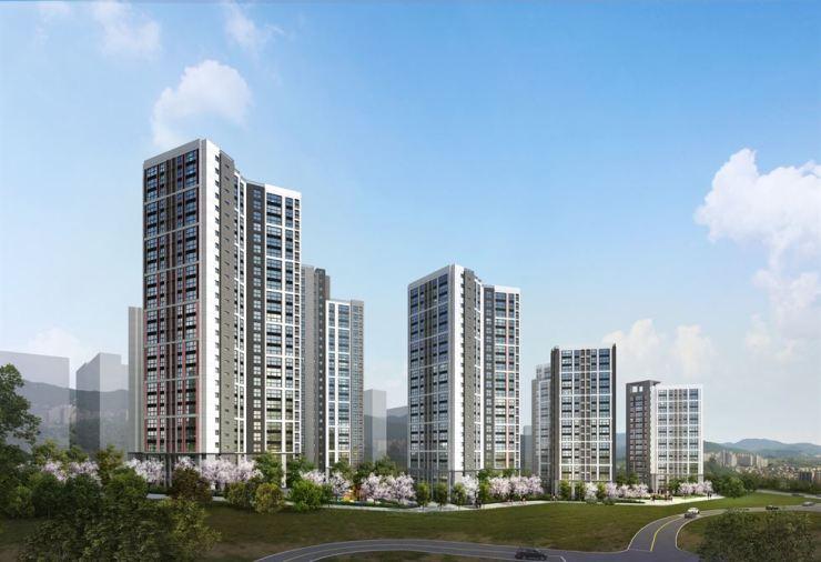 Hyundai E&C's Illumistate apartment complex in Bucheon, Gyeonggi Province / Courtesy of Hyundai E&C