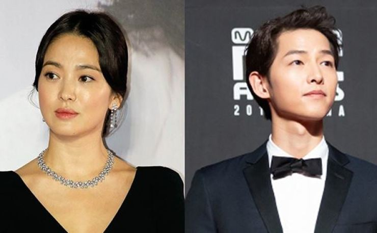 Song Hye-kyo and Song Joong-ki. Korea Times file