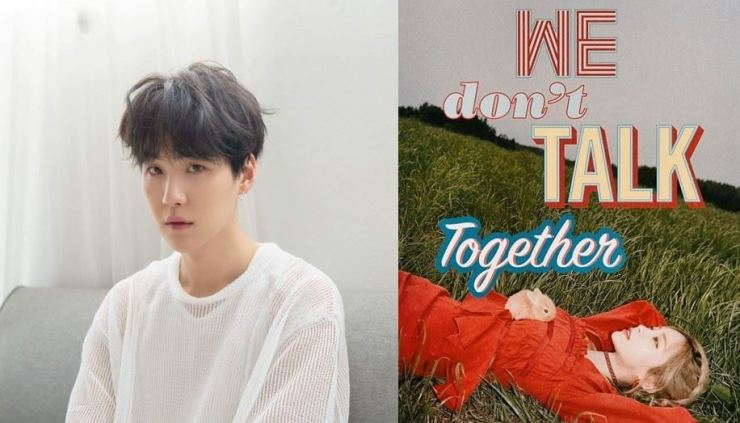 Idol-producer SUGA and artist Heize have collaborated for her comeback single. Captured from the artists' Instagram @yoongibts and @heize_official