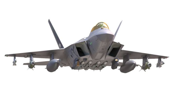 This file photo provided by the Defense Acquisition Program Administration last June shows the front of the proposed KF-X/IF-X aircraft, under joint development by the South Korean and Indonesian governments. Korea Times file