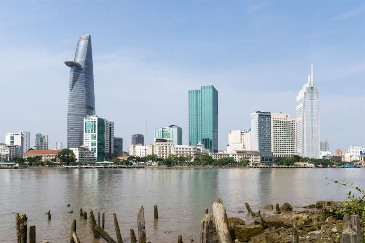 A riverside view of Ho Chi Minh city / gettyimagesbank