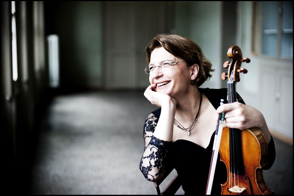 Antje Weithaas is scheduled to perform solo violin sonatas by Bach and Ysaye this Thursday at Kumho Art Hall Yonsei. Courtesy of Giorgia Bertazzi