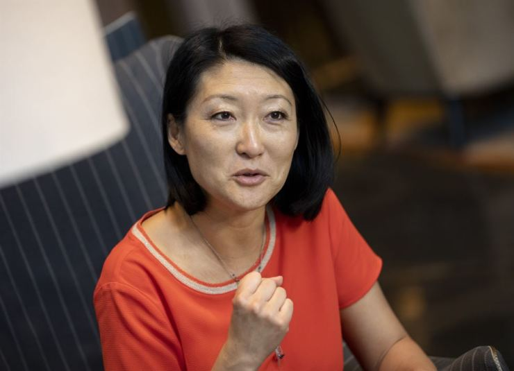 Fleur Pellerin, former French culture minister, sets out on a new task of disrupting U.S.-China digital dominance with her start-up investment fund. Korea Times photo by Shim Hyun-chul