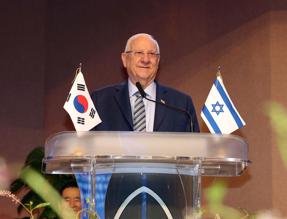 Israeli President Reuven Rivlin speaks during his visit to Yoido Full Gospel Church in Seoul, Wednesday. Korea Times photo by Jung Min-ho