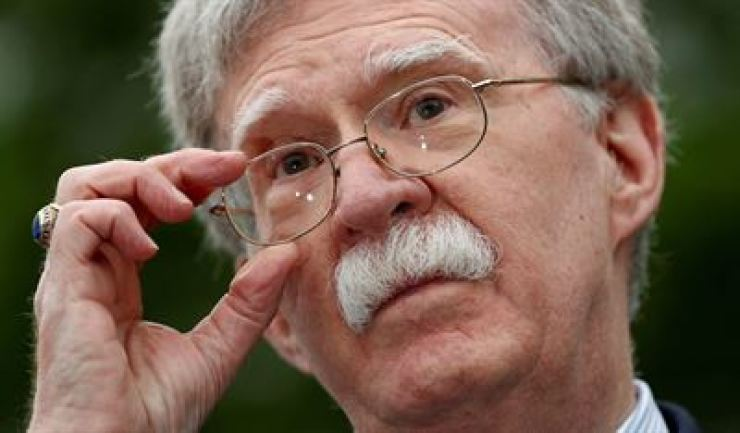 U.S. National Security Adviser John Bolton at the White House. Reuters-Yonhap