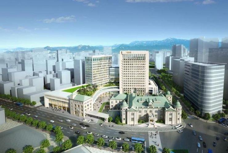 An artists portrayal of the Bank of Korea's new head office / Korea Times file