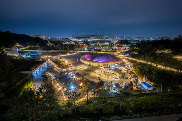 A night view of Oil Tank Culture Park in Seoul / Courtesy of Seoul Metropolitan Government