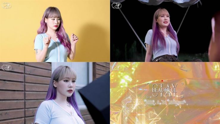 A collection of screen captures from the music video preview of singer Park Ji-min's new single 'Stay Beautiful.' / Courtesy of JYP Entertainment