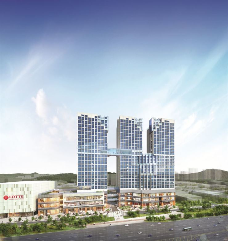 An artist's impression of Hyundai E&C's Hill State Eco Ansan Jungang studio apartment complex in Ansan, Gyeonggi Province / Courtesy of Hyundai E&C