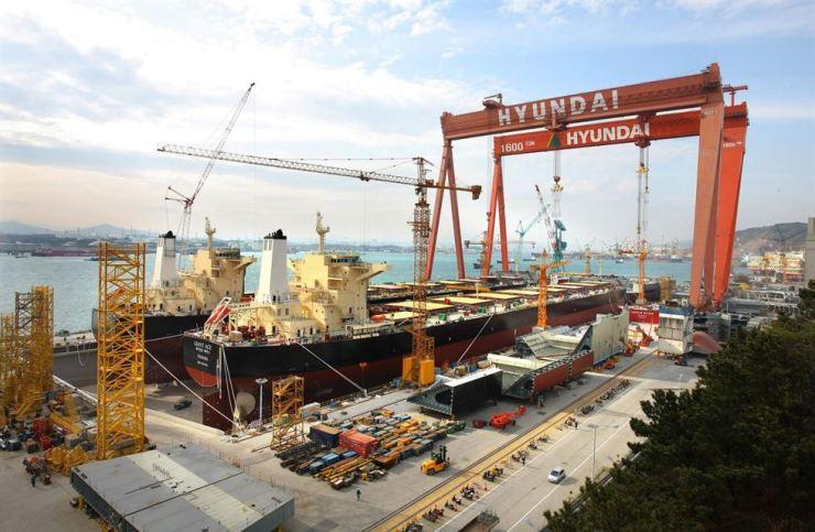 A Hyundai Heavy Industries dockyard in Ulsan / Courtesy of Hyundai Heavy Industries