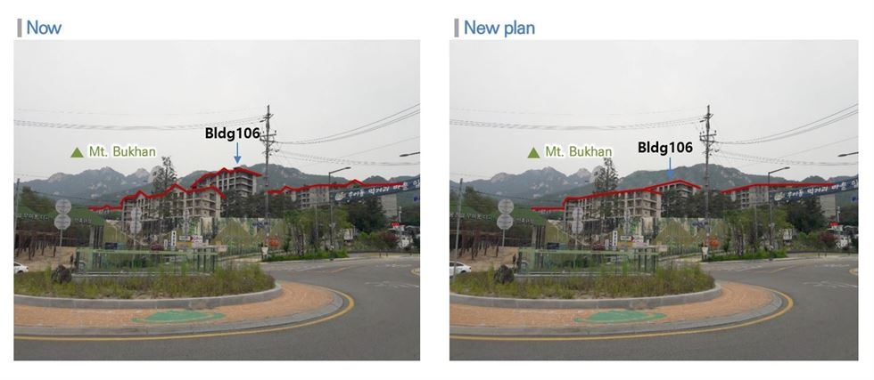 The revised layout of Pine Tree & Spa condo complex in Ui-dong, northeastern Seoul / Courtesy of Seoul Metropolitan Government