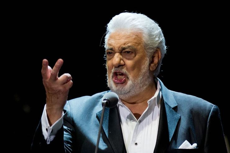 In this file photo taken on July 25, 2015 Spanish singer Placido Domingo performs on stage during a concert at the Starlite in Marbella. AFP-Yonhap