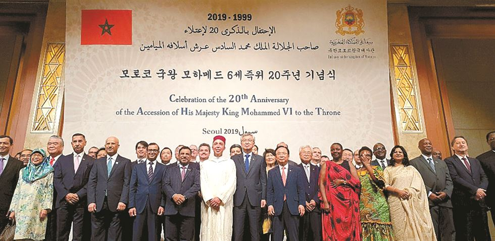King Mohammed VI of Morcocco delivers a speech to the natioan on July 29 on the occasion of the 20th anniversary of his accession to the throne. /  Embassy of Morocco