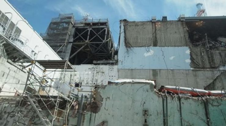 Destroyed Fukushima nuclear power plant. Korea Times file