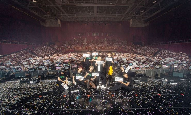 K-pop boy group SF9 played the '2019 SF9 LIVE FANTASY #2 'UNIXERSE'' gig on Saturday. Courtesy of FNC Entertainment