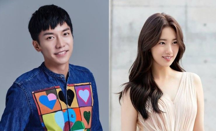 The drama stars Suzy (right) and Lee Seung-gi. Capture from Instagram @skuukzky and @leeseunggi.official