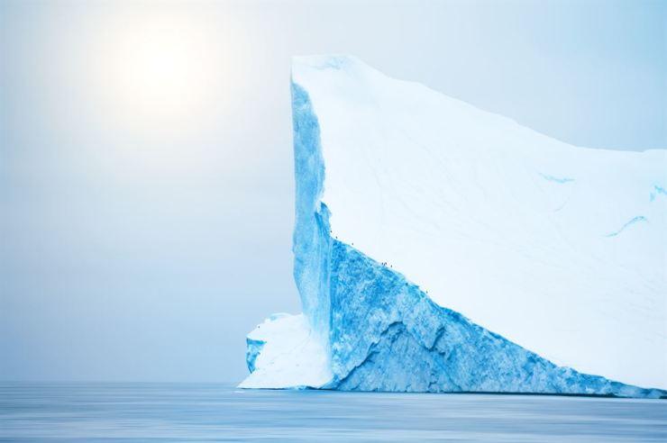 An iceberg in the Atlantic Ocean, Greenland  /gettyimagesbank