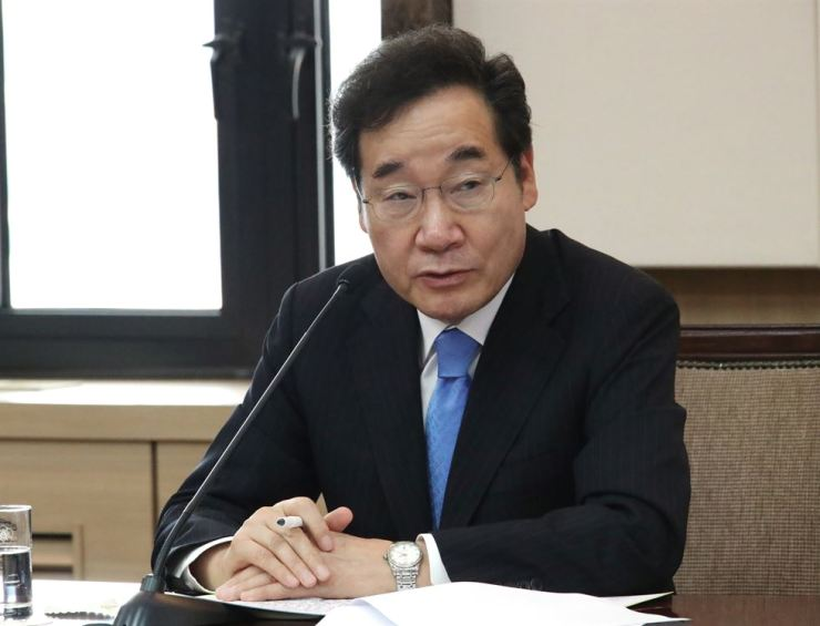 Prime Minister Lee Nak-yon speaks during a meeting at the Seoul Government Complex, Tuesday. Yonhap