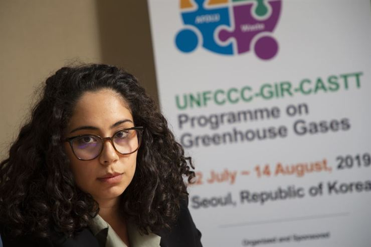 Ana Lucia Moya Mora, an adviser in Climate Change Direction from the Ministry of Energy and Environment of Costa Rica, at this year's UNFCCC-GIR-CASTT Programme on Greenhouse Gases at the E-Room Center in Yeouido, Seoul, Aug. 1. Korea Times photo by Choi Won-suk