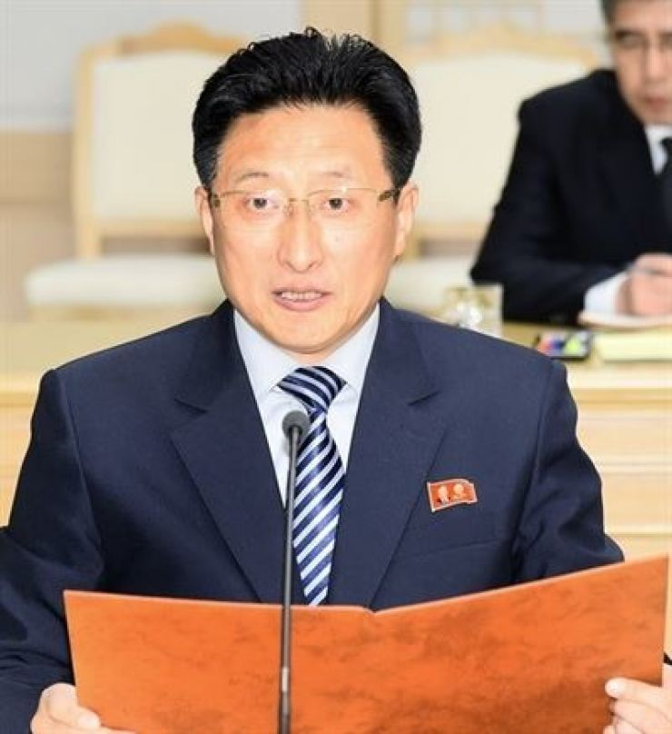 North Korean vice sports minister Won Kil-u. Yonhap