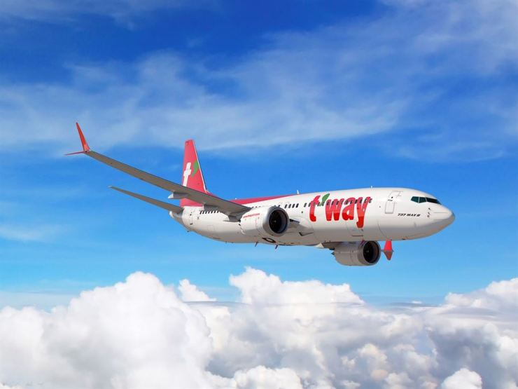 T'way Air's Boeing 737-Max