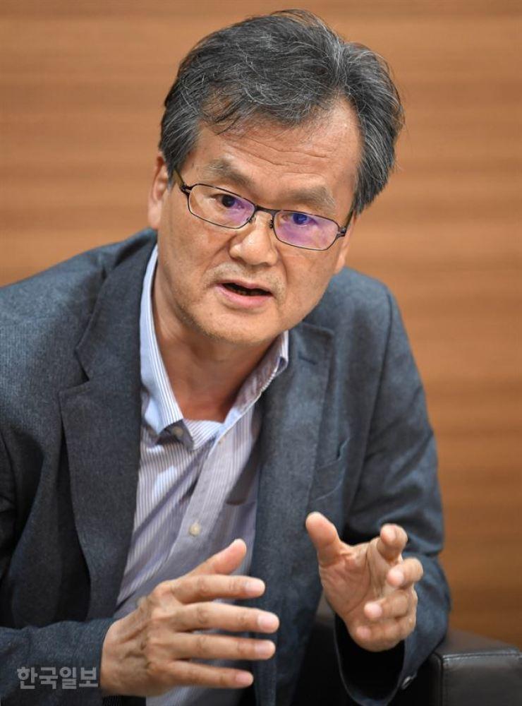 Chung Jae-jeong, professor emeritus at the University of Seoul Korea Times photo by Seo Jae-hoon
