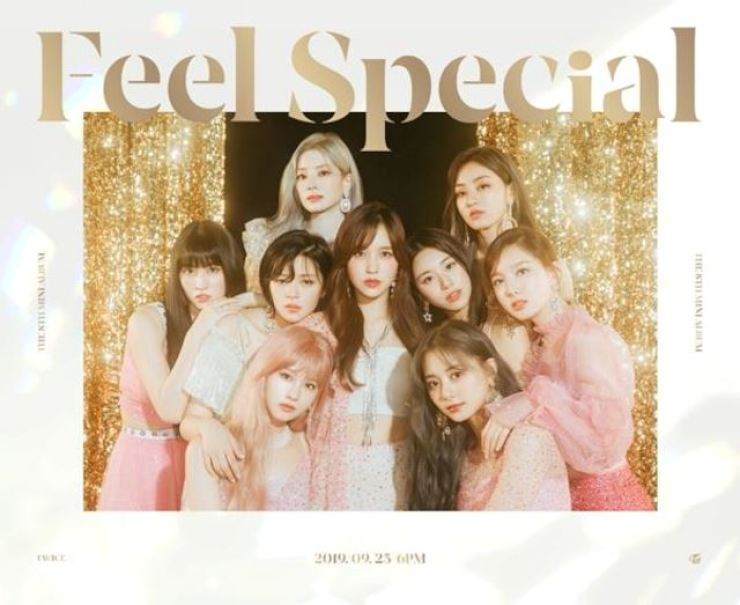 TWICE members, Mina included, on the cover of their new album. /Korea Times file