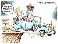 Boris Johnson and Queen Brexit