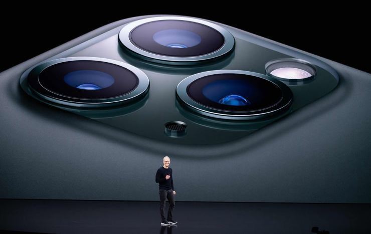 Apple CEO Tim Cook speaks on-stage during a product launch event at Apple's headquarters in Cupertino, Calif., Sept. 10, 2019. Apple unveiled its iPhone 11 models Tuesday, touting upgraded, ultra-wide cameras as it updated its popular smartphone lineup and cut its entry price to $699. AFP