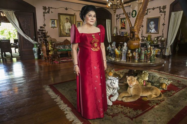 This image released by Showtime shows Imelda Marcos from the documentary 'The Kingmaker,' which premiered Friday at the Venice International Film Festival. (Lauren Greenfield/Showtime via AP)