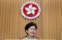 Hong Kong leader says she would 'quit' if she could, according to leaked tape