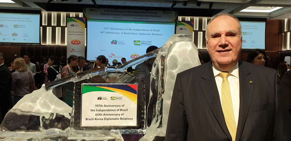 Brazilian Ambassador to Korea Luis Henrique Sobreira Lopes says Korean immigrants in Brazil are integral members for the two countries that mark the 60th anniversary of diplomatic relations. / Korea Times photo by Yi Whan-woo