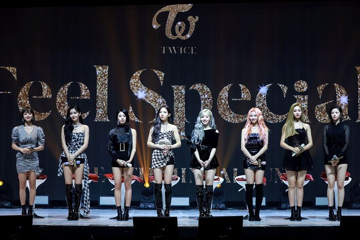 K-pop girl band TWICE returned on Monday with the fresh release 'Feel Special.' Courtesy of JYP Entertainment
